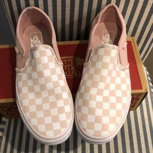 Vans Shoes | Checkerboard Sepia Rose